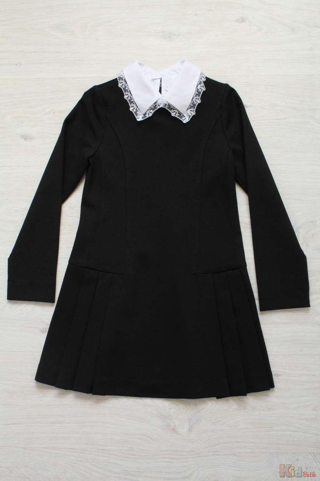 Купить черное школьное платье для девочки