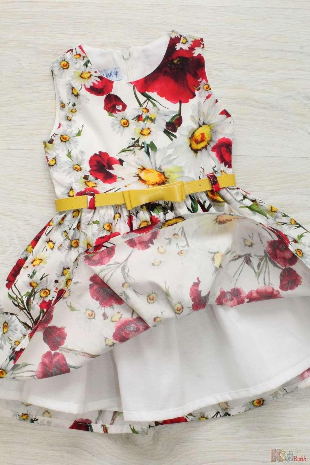 Платье на девочку цветочный принт