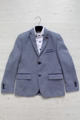 68ee9778b6a35d Піджак синього кольору з структурної тканини для хлопчика