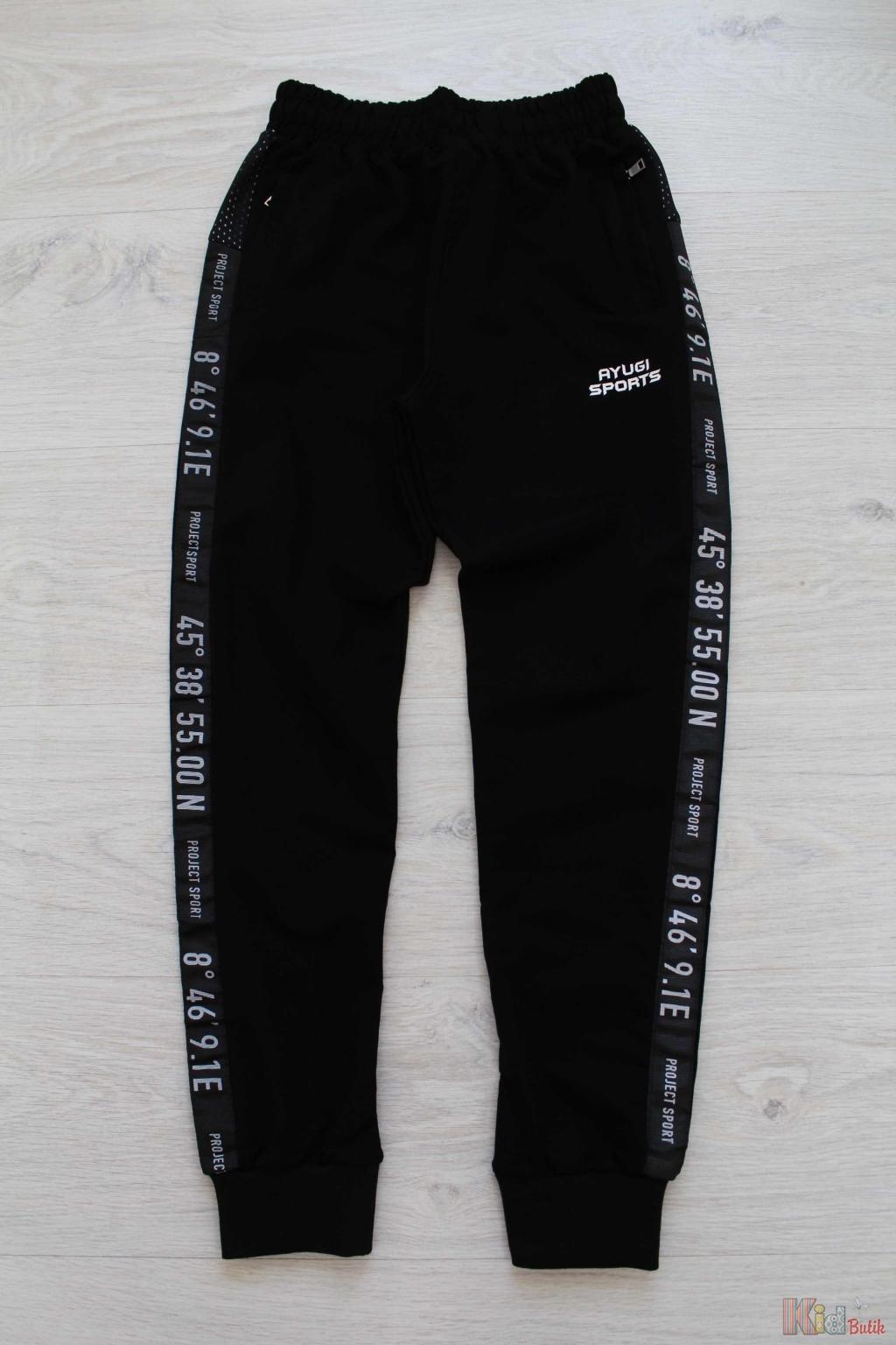 Штани спортивні для хлопчика чорного кольору A-yugi Аю18-47Чор(2681) ... e36be0ac3c5f5