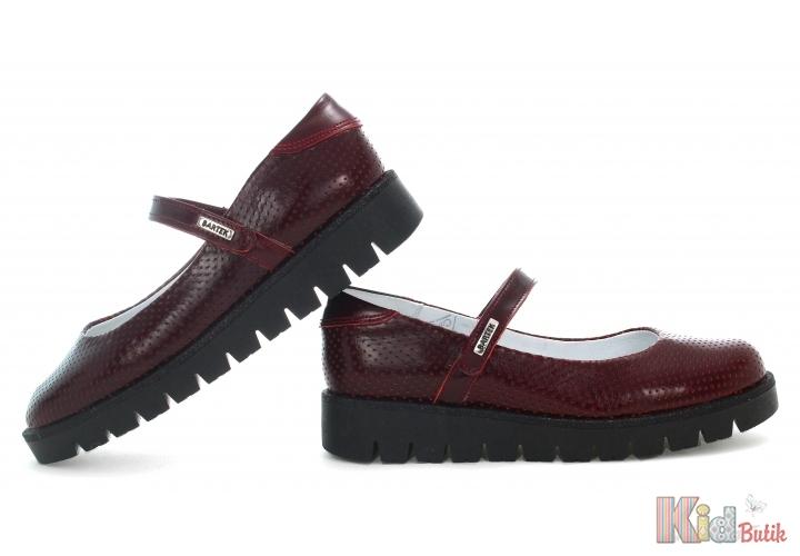 d3fcad6e005400 ... Туфлі бордового кольору для дівчинки Bartek 18-48605/SZ/F70 ...