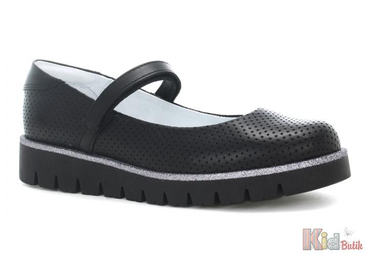 fad6272676f0d6 Туфлі для дівчинки чорні на рельєфній підошві Bartek 18-45605/SZ/N2 ...