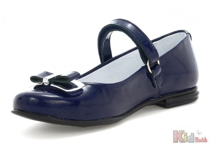 db393589604ddb ... Туфлі сині з лакованої шкіри для дівчинки Bartek 18-28554/SZ/1H5 ...