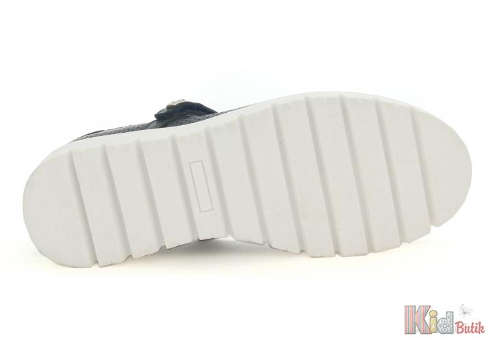 a15f0478527cf3 ... Туфлі для дівчинки на рельєфній підошві, аквамарин Bartek 18-45605/SZ/04H  ...