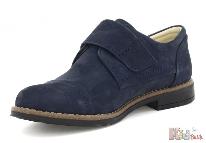 d7229a9afcbea0 ᐈ Туфлі сині на липучці для хлопчика Bartek 18-25634/SZ/90 купити ...