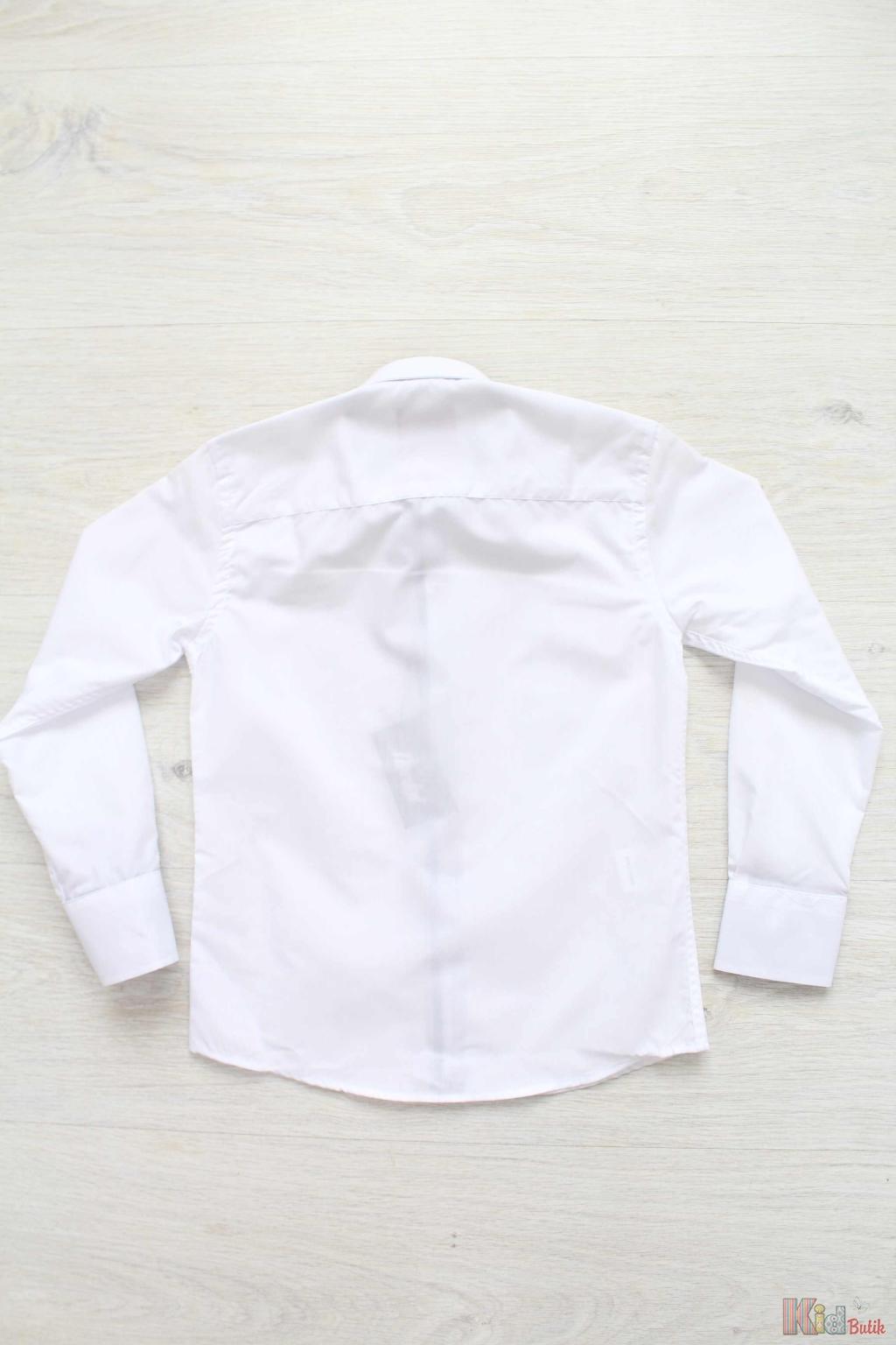 6c5e838687b ... Рубашка белая с квадратными пуговицами для мальчика Herdal Н18-10 (97-1)