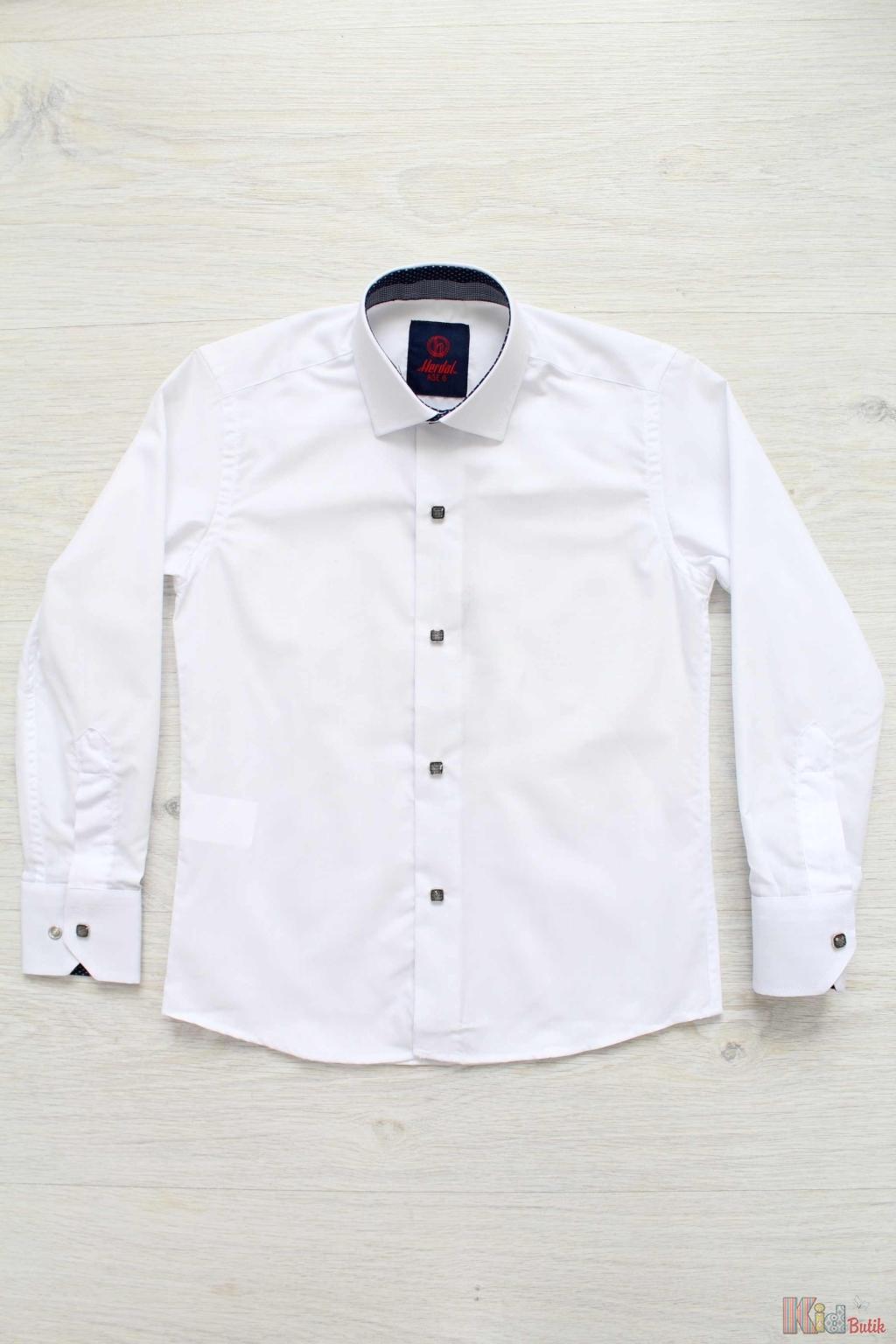 25f5fb1970f Рубашка белая с квадратными пуговицами для мальчика Herdal Н18-10 (97-1) ...