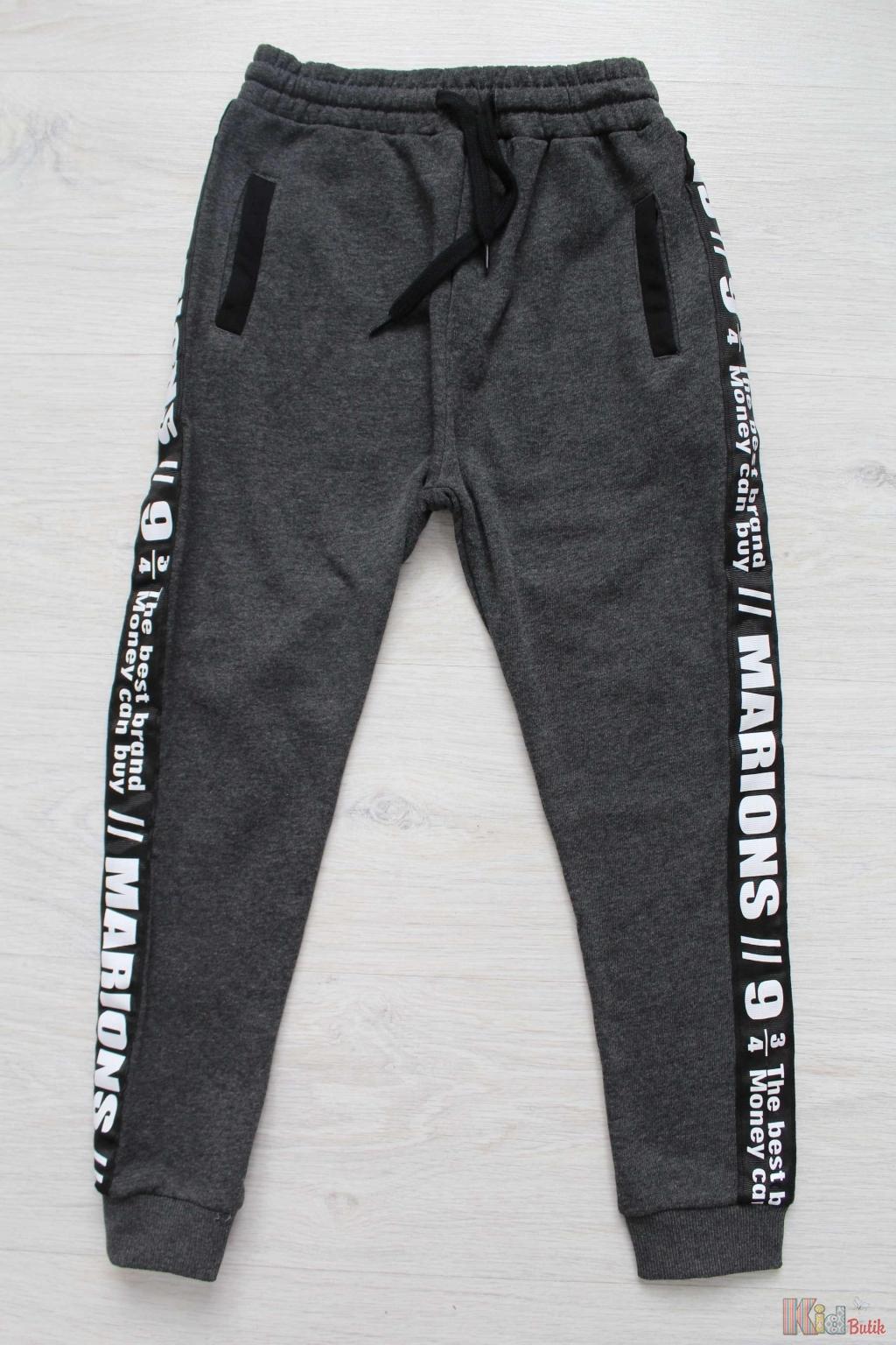 Штани спортивні сірого кольору з лампасами для хлопчика Marions  Мр18-12(2543)Сір ... 964a2f7f7c483