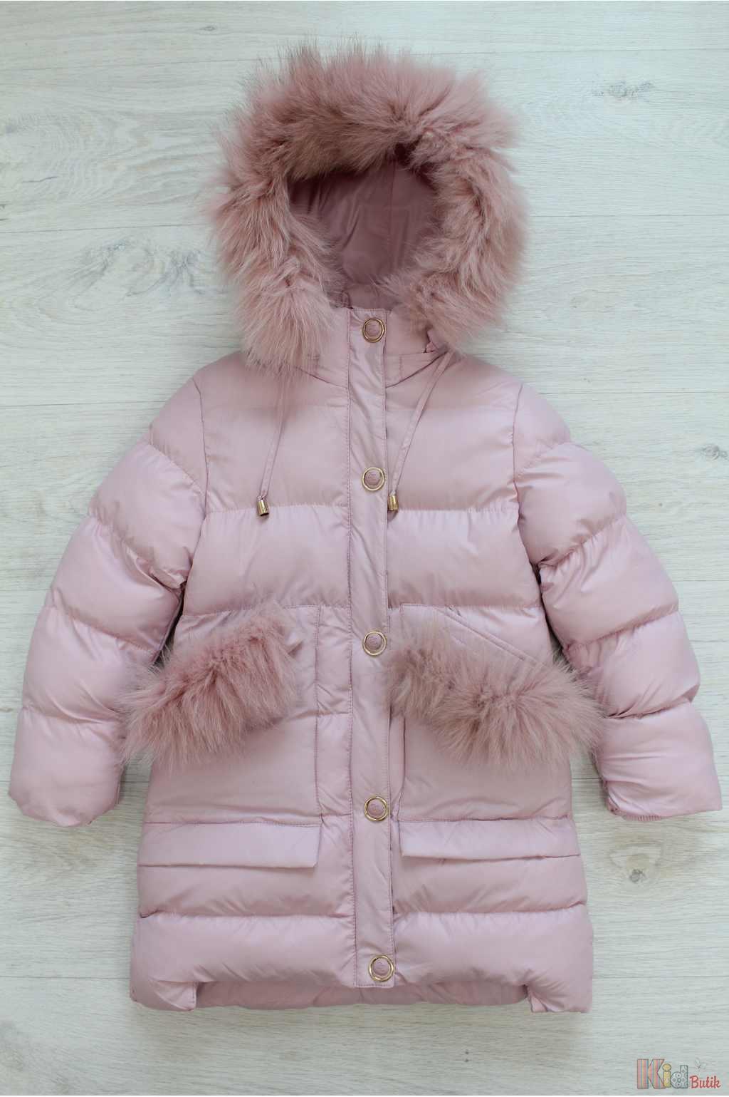 Куртка зимова подовжена рожевого кольору для дівчинки Zuzzi И18-31Рз(7714)  ... d1d09113249a5