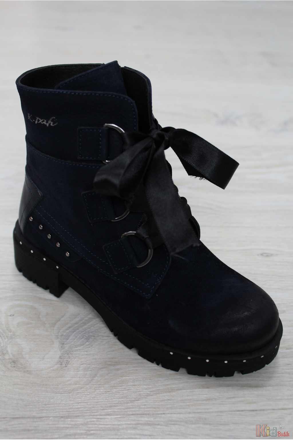 0943558dca4395 Черевики демісезонні темно-синього кольору для дівчинки Kemal Pafi  КР18-120.38190/3( ...