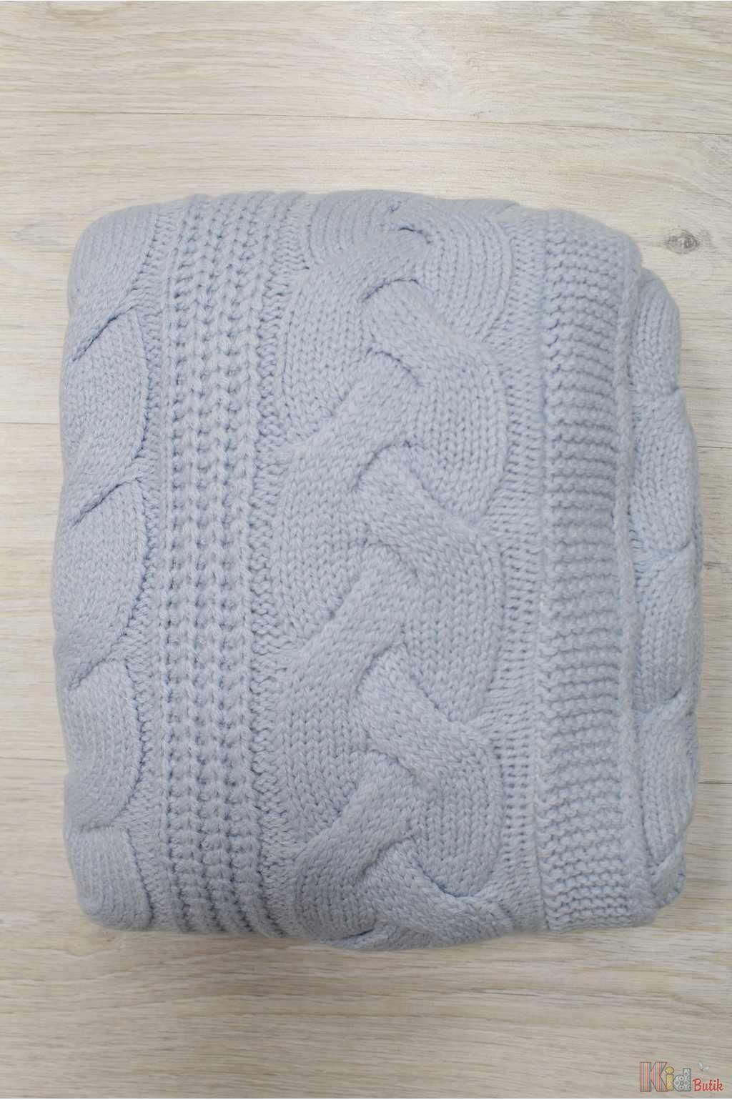 ᐈ одеяло вязаное голубого цвета для маленького малыша Nipper Land