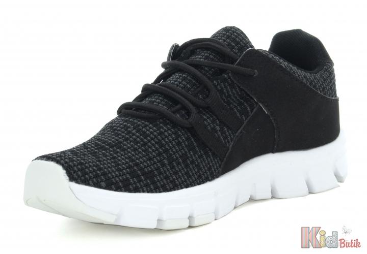 7e44c8522c2f59 ᐈ Кросівки чорні текстильні для хлопчика Bartek 19-55117/ОКК купити ...
