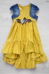 8b09764e630 Костюм 2-ка клешное платье и джинсовая жилетка Мк19-4(5172) КУПИТЬ