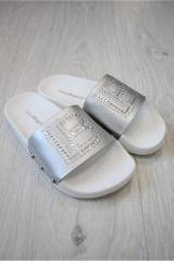 c5bfaba3a1cd2d Сланці для дівчинки Laura Biagiotti сріблясті 19Л-L5440 Сір. КУПИТИ