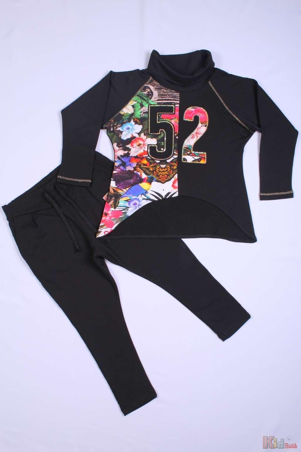 d9a0d185 ᐈ Спортивный костюм для девочки чёрный Puledro 2126000088997 купить ...